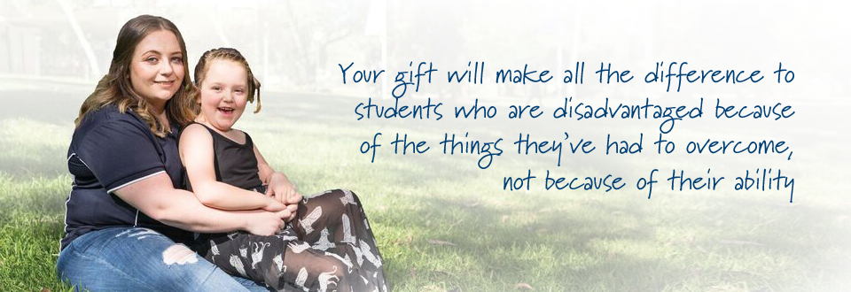Your gift will make all the difference tostudents who are disadvantaged because