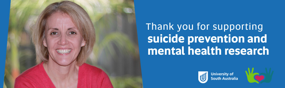 Thank you for supporting suicide prevention and mental health research