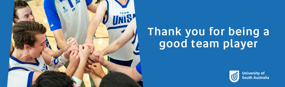 Thank you for being a good team player