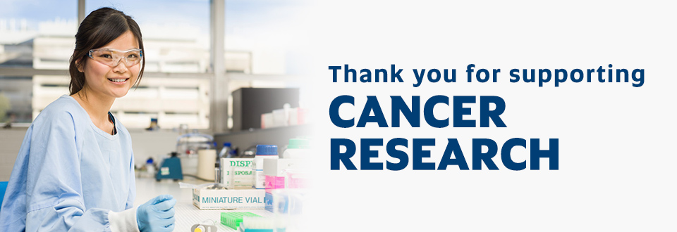 Thank you for supporting cancer research